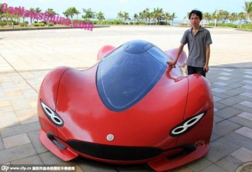 Sinh viên Trung Quốc phát triển xe ô tô điện thể thao cực ngầu - 5