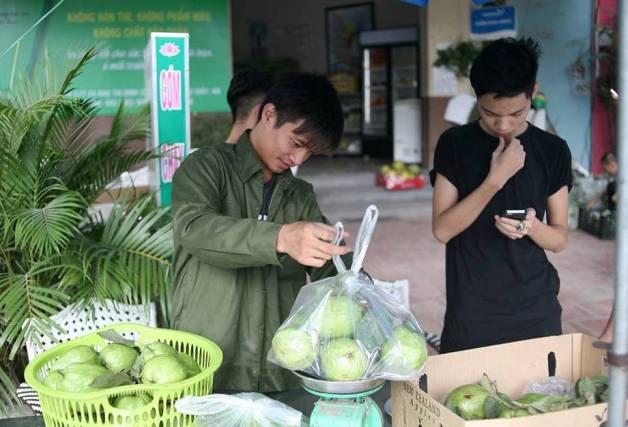 Bất ngờ với hình ảnh Lệ Rơi đứng bán ổi ở Hà Nội - 3