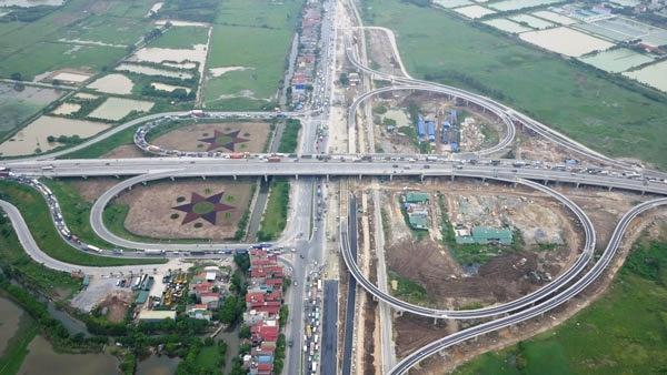 Hướng dẫn lưu thông qua nút giao cầu Thanh Trì-QL5 - 1