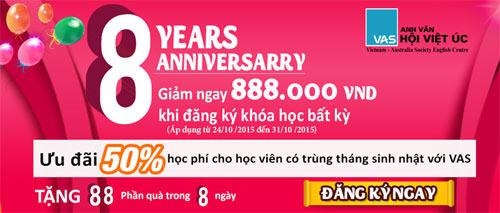 Anh Văn Hội Việt Úc ưu đãi 50% học phí mừng sinh nhật 8 tuổi - 7