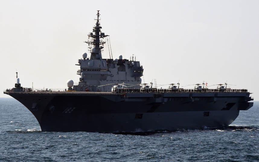 """Nhật bất ngờ """"khoe"""" sức mạnh dàn tàu chiến hoành tráng - 6"""