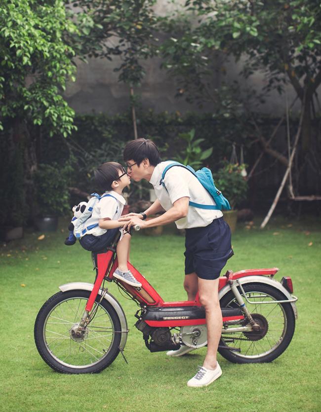 Bộ ảnh này được thực hiện nhân dịp cậu nhóc Rio Hạo Nhiên vừa tròn 4 tuổi.
