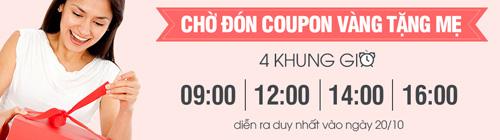 Tưng bừng mua sắm với coupon giờ vàng trên Deca mừng 20/10 - 2