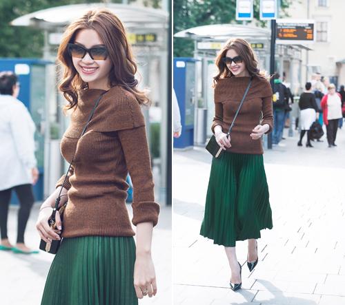 Diễm Trang mặc sành điệu trên phố Ba Lan - 10