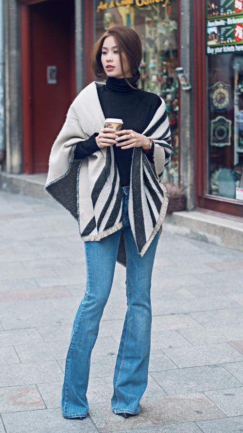 Diễm Trang mặc sành điệu trên phố Ba Lan - 5