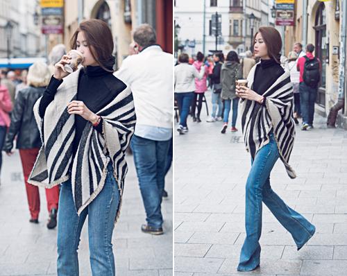 Diễm Trang mặc sành điệu trên phố Ba Lan - 7