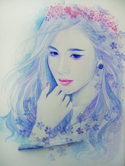 Hoa hậu Thu Thảo, Mỹ Tâm đẹp như thiên thần trong tranh - 12