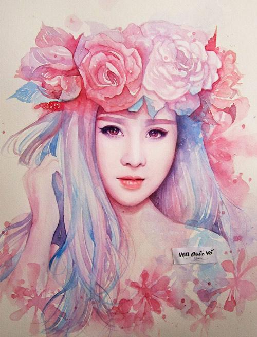 Hoa hậu Thu Thảo, Mỹ Tâm đẹp như thiên thần trong tranh - 14