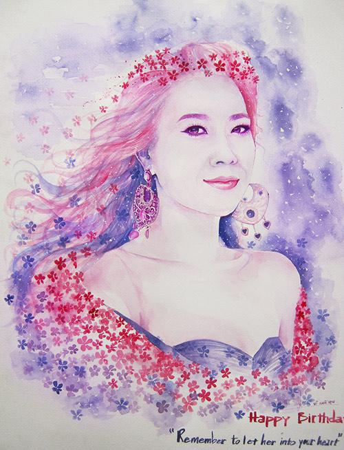 Hoa hậu Thu Thảo, Mỹ Tâm đẹp như thiên thần trong tranh - 4