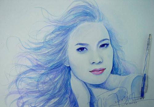 Hoa hậu Thu Thảo, Mỹ Tâm đẹp như thiên thần trong tranh - 5