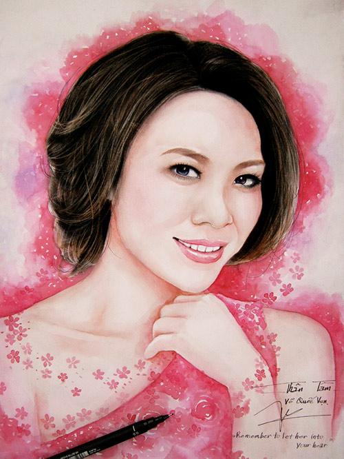 Hoa hậu Thu Thảo, Mỹ Tâm đẹp như thiên thần trong tranh - 6