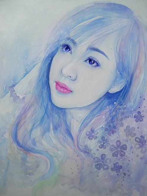 Hoa hậu Thu Thảo, Mỹ Tâm đẹp như thiên thần trong tranh ...