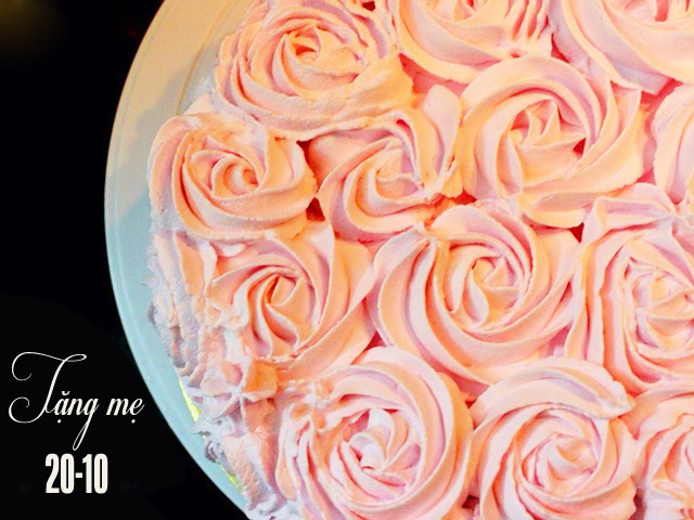 Làm bánh kem hoa hồng bằng nồi cơm điện tặng mẹ 20-10 - 12