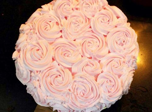 Làm bánh kem hoa hồng bằng nồi cơm điện tặng mẹ 20-10 - 10