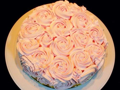 Làm bánh kem hoa hồng bằng nồi cơm điện tặng mẹ 20-10 - 11