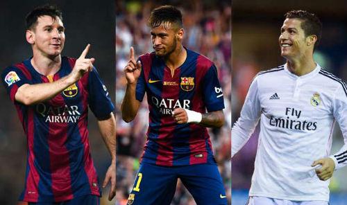 Danh sách QBV FIFA 2015: Messi, CR7 dè chừng Neymar - 1