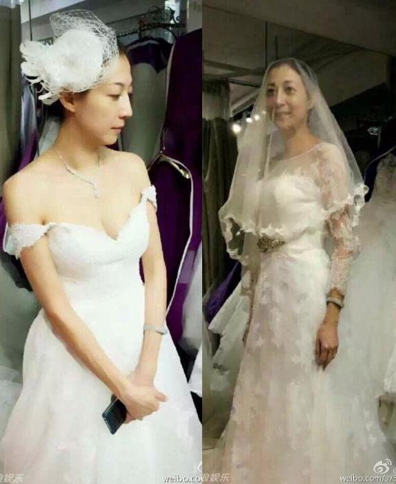 """""""Vợ hờ"""" Thành Long xúc động khi lần đầu mặc váy cô dâu - 2"""