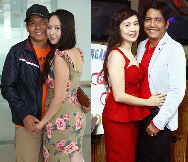 """Nổi tiếng là cặp vợ chồng  """" đũa lệch """"  trong showbiz Việt, Thanh Thúy và Đức Thịnh đã có hơn 7 năm hạnh phúc bên nhau."""