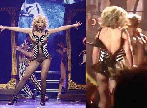 Britney Spears luống cuống vì toạc áo liền quần - 8