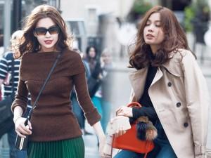 Thời trang - Diễm Trang mặc sành điệu trên phố Ba Lan
