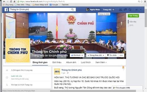 Chính phủ muốn phủ sóng thông tin trên Facebook - 1