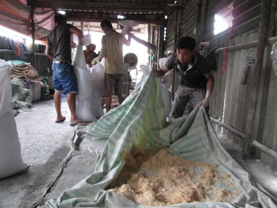 Lò sản xuất chà bông từ thịt gà độn bột mì, bốc mùi hôi thối - 2