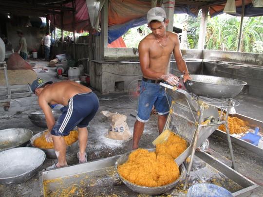 Lò sản xuất chà bông từ thịt gà độn bột mì, bốc mùi hôi thối - 3