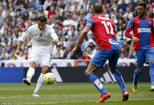 Ronaldo sút xa trái phá đẹp nhất vòng 8 La Liga - 1