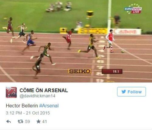 Fan Arsenal muốn xem Bellerin đọ sức với Usain Bolt - 2