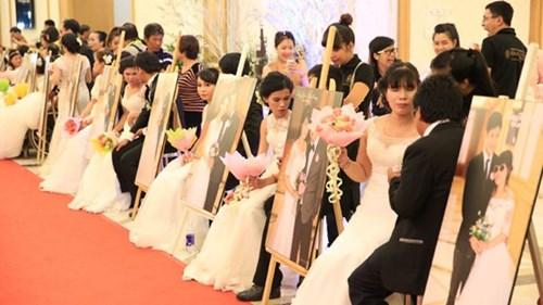 Xúc động lễ cưới tập thể của 40 cặp đôi khuyết tật - 3