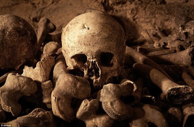 Rợn người ngủ đêm trong hầm mộ cùng 6 triệu hài cốt - 2