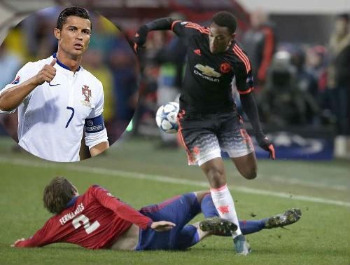 Ở tuổi 19, Martial khiến Ronaldo phải ghen tị - 1