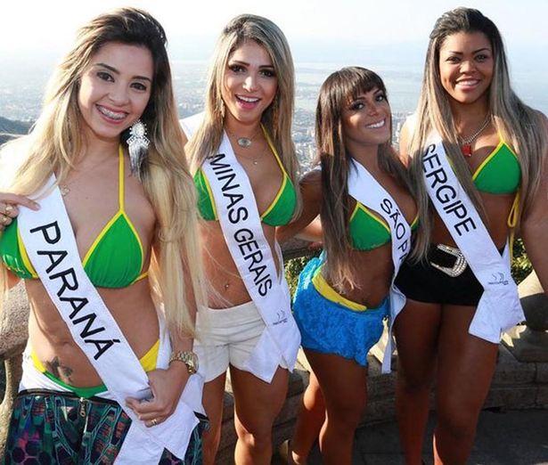 Dàn người đẹp Hoa hậu vòng 3 Brazil cực nóng bỏng - 1