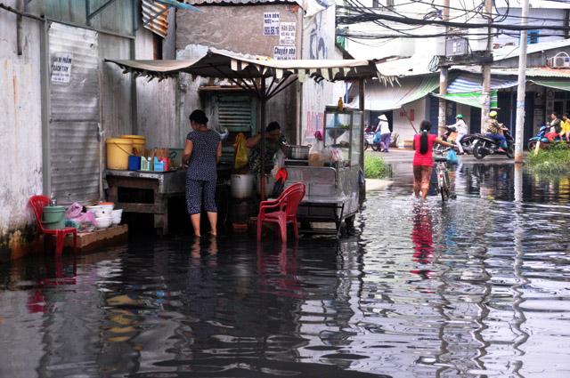 Ảnh: Sau mưa, Sài Gòn như miền Tây mùa nước nổi - 11
