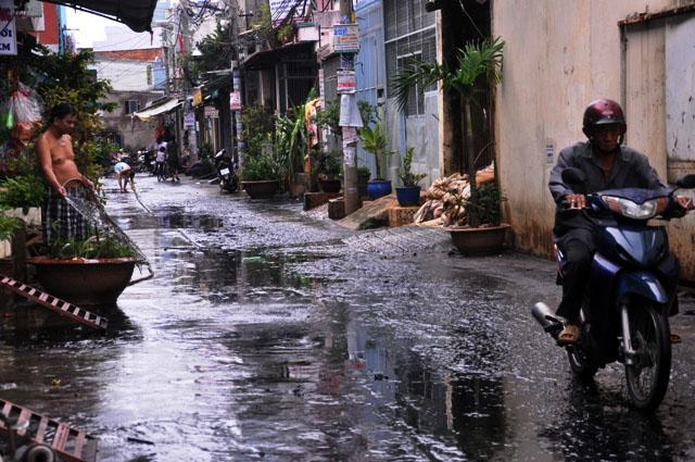 Ảnh: Sau mưa, Sài Gòn như miền Tây mùa nước nổi - 14