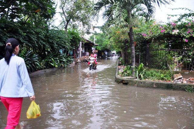 Ảnh: Sau mưa, Sài Gòn như miền Tây mùa nước nổi - 8