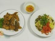 Ẩm thực - Nhâm nhi cuối tuần với hai món ngon từ khô cá lóc