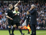 Bóng đá - Lại phản ứng trọng tài, Mourinho bị truất quyền chỉ đạo