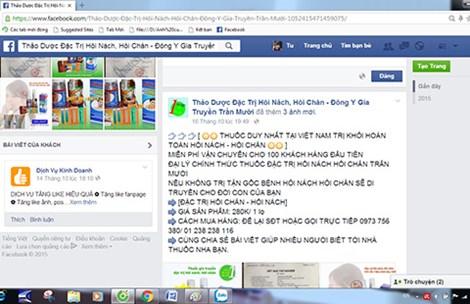 """Đừng vội tin """"thuốc gia truyền"""" bán trên mạng - 2"""