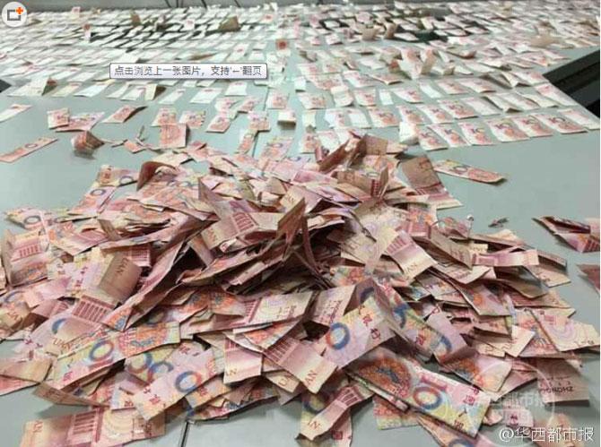 Phát khóc vì phải dán lại 166 triệu đồng băm xé tan tành - 2
