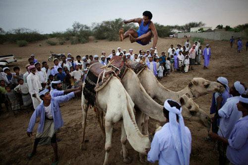 """Nhảy qua lưng lạc đà, môn thể thao """"dị"""" của Yemen - 1"""