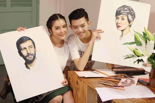 Lý Nhã Kỳ mời họa sĩ 15 tuổi vẽ tranh Xa Thi Mạn - 4