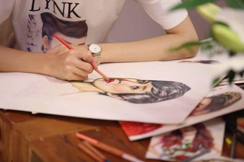 Lý Nhã Kỳ mời họa sĩ 15 tuổi vẽ tranh Xa Thi Mạn - 5