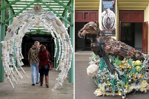 Những sinh vật biển khổng lồ được làm từ rác thải - 1