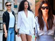 Thời trang - Học cách diện jeans đẹp như sao