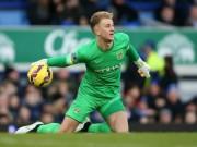 Bóng đá Ngoại hạng Anh - Joe Hart phản xạ giúp Man City hòa MU đẹp nhất V10 NHA