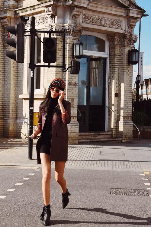"""Hoàng Thùy mặc cực """"chất"""" trên phố London - 4"""