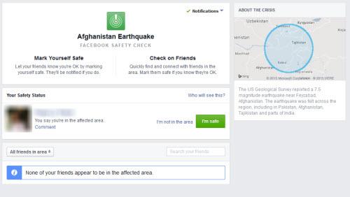 Facebook giúp xác minh số phận những người ở vùng động đất - 1