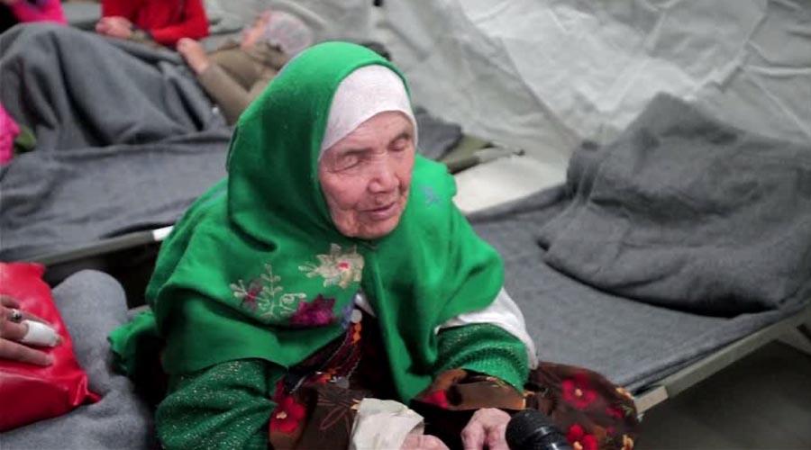 Cụ bà 105 tuổi đi bộ 20 ngày đến kiệt sức tìm nơi tị nạn - 1