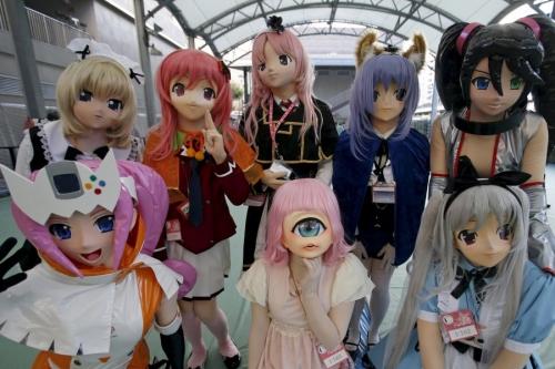 Giới trẻ Nhật Bản hóa trang kỳ dị dọa người đi đường - 1